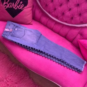 Jeans with cutout sides